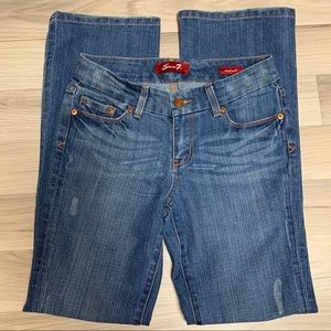 Seven7 Blue Denim Bootcut Jeans